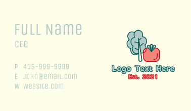Cabbage Tomato Vegetable Business Card