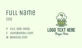 Green Organic Coffee Tea Business Card
