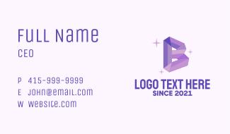 Shiny Gem Letter B Business Card