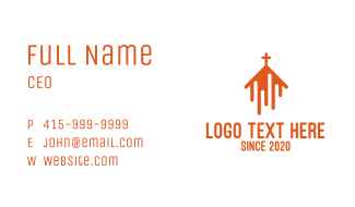 Abstract Orange Chapel Business Card