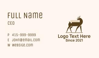 Deer Book Study Business Card