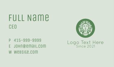 Green Natural Woman   Business Card