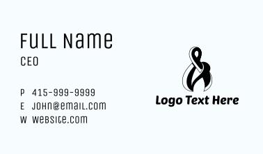 Black Ampersand Business Card
