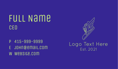 High Top Sneaker Wing Business Card