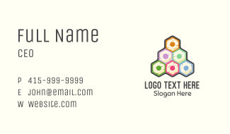 Colorful Pencils Pyramid Business Card