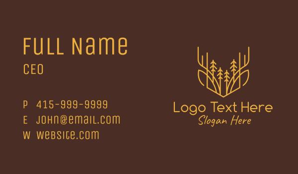 wild animals - Orange Deer Valley Business card horizontal design