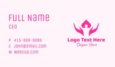 Pink Human Hands Business Card
