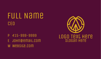 Letter A & O Business Card