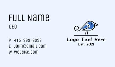 Pet Blue Jay Bird Business Card