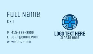 Blue Medical Cross Mosaic  Business Card