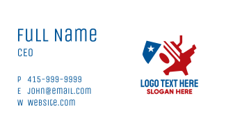 American Fast Food Drink Business Card