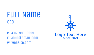 Blue Snowflake Decoration  Business Card