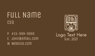 Coffee Maker Machine  Business Card