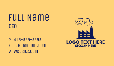 Music Hall Concert Business Card