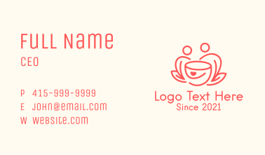 Coffee Date Line Art  Business Card