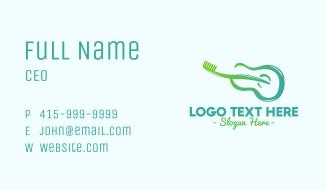 Guitar Toothbrush Business Card