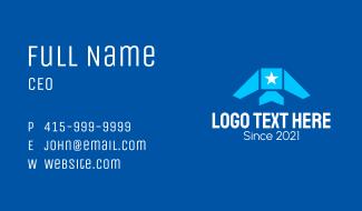 Star Airplane Aviation  Business Card
