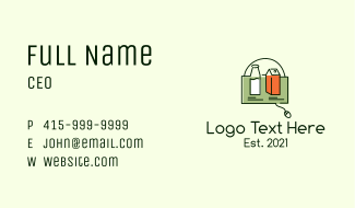 Online Grocery Shopping  Business Card