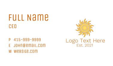 Morning Summer Sun Business Card
