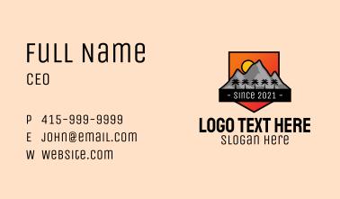 Tropical Mountain Badge Business Card