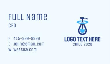 Blue Liquid Sanitizer Business Card