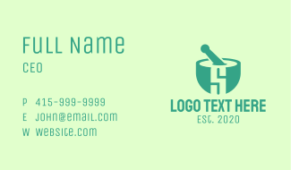 Teal Pharmacy Letter S Business Card
