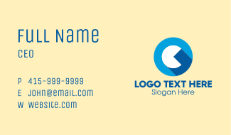 Game Letter C Business Card