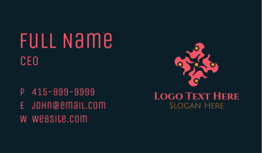Abstract Fashion Flower Business Card
