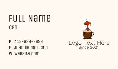 Volcano Coffee Cup Business Card