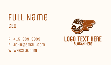 Fast Coffee Delivery Business Card