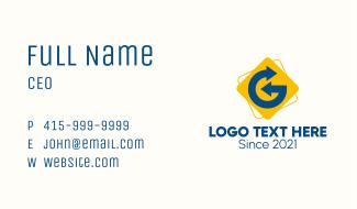 Arrow Courier Letter G Business Card