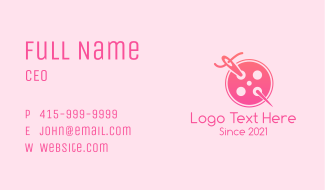 Needle Button Business Card