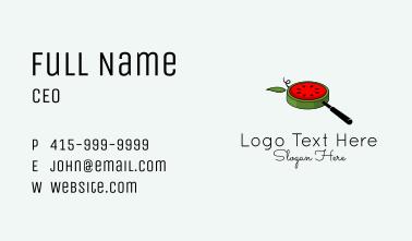 Watermelon Detective Lens  Business Card
