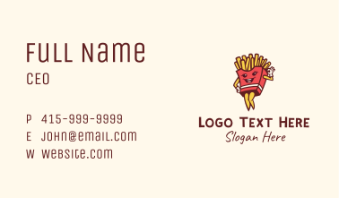 Lady French Fries  Business Card