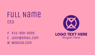 Digital Abstract Symbol Business Card