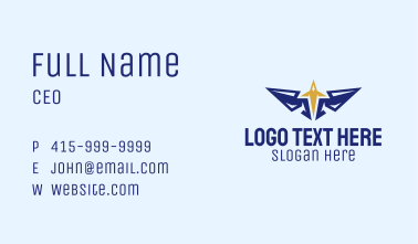 Plane Wings Crest Business Card