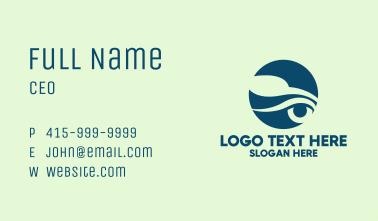 Blue Car Silhouette  Business Card