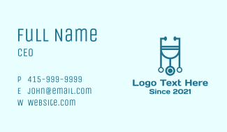 Physician Medical Stethoscope Business Card