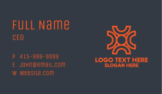 Orange Magnet Sphere Business Card