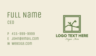 Eco Branch Frame Business Card