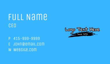Graffiti Handwriting Wordmark Business Card