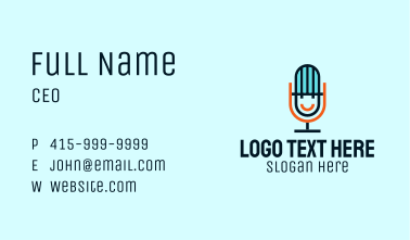 Smiling Mic Podcast Business Card