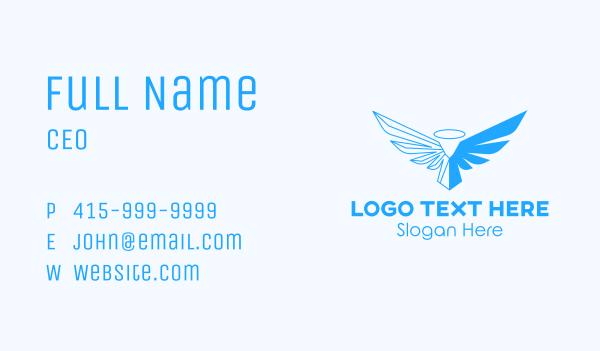 evangelization - Blue Angel  Business card horizontal design