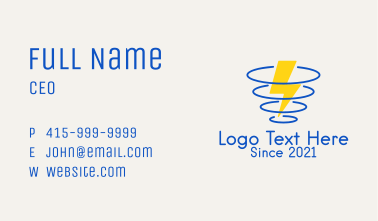 Thunder Storm Weather Business Card