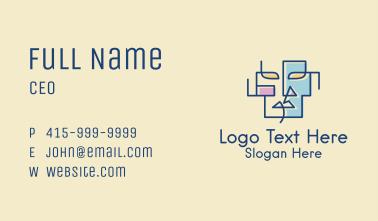 Geometric Face Art  Business Card