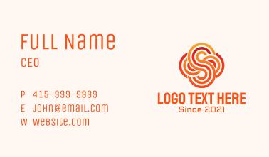 Linear Letter S Cloud Business Card