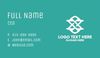 Modern X Monogram Business Card