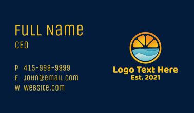 Lemon Slice Ocean Business Card