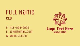 Ethnic Tribal Sun Business Card
