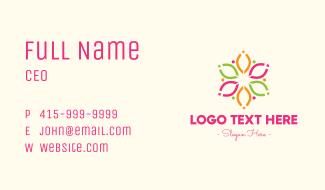 Modern Floral Pattern Business Card
